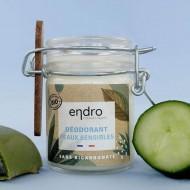 Déodorant  baume - Peaux sensibles - Endro - 50ml - Bio - Flacon verre recyclable