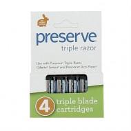 Lames de rechange pour rasoir triple lame Preserve