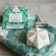 Lamazuna- Pain de rasage solide écologique - Thé vert citron - cosmétique solide