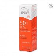 Crème solaire visage certifiée bio SPF 50 Laboratoires de Biarritz 50ml