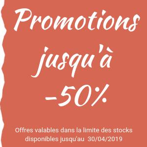 Promotions jusqu'à -50%