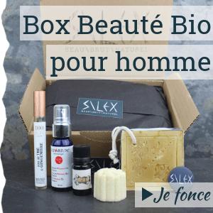 Box beauté bio pour homme par Silex