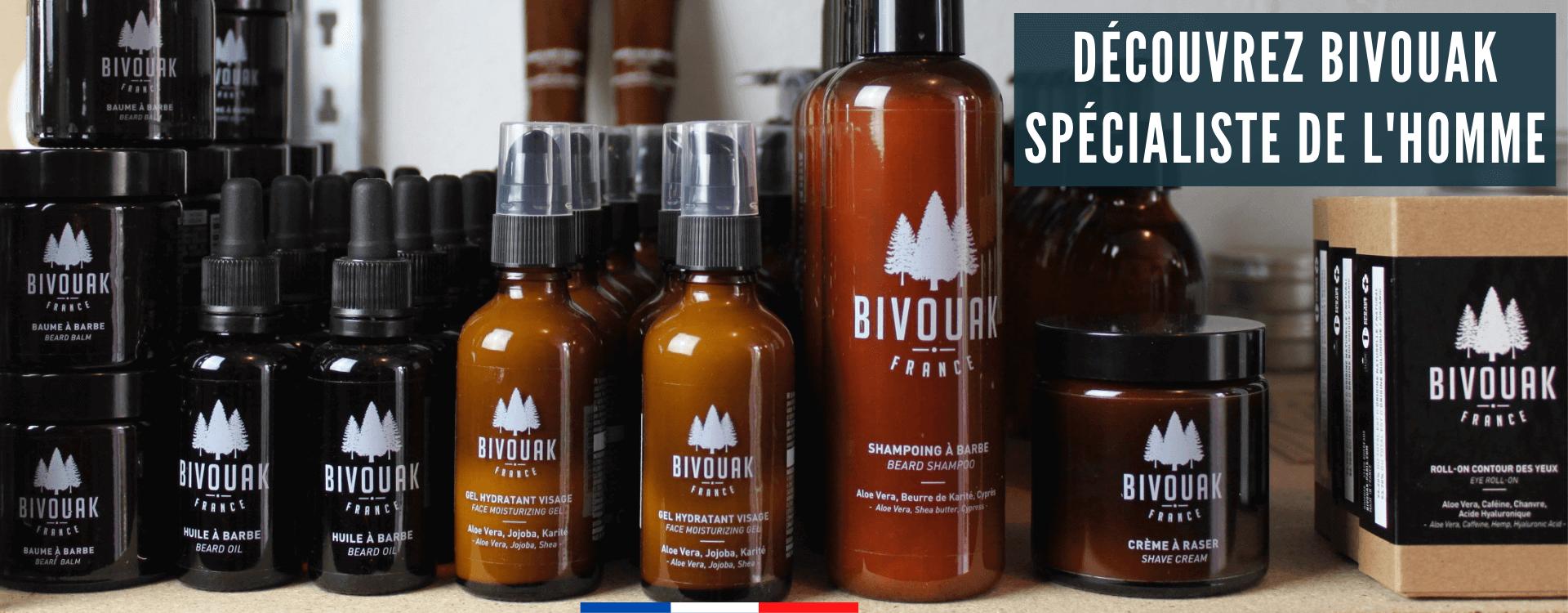 Bivouak : soins Bio pour homme pour la barbe et le visage